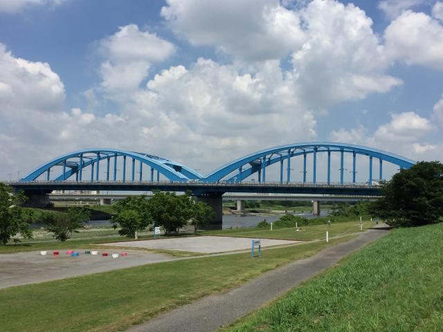 鋼橋の塗装工事:多摩川丸子橋 土木ウォッチング